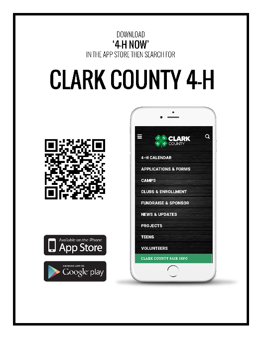Picture of Clark County 4-H App with QR Code